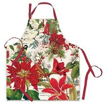 Michel Design Works Cotton Apron Christmas Merry & Bright - NEW