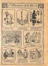 Humour Kaiser Guillaume Tommies Périscope Équilibriste Poilus Feldgrau WWI 1916
