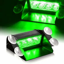7 Modes 4 LED Car Truck Strobe Flash Emergency Windshield Light Green