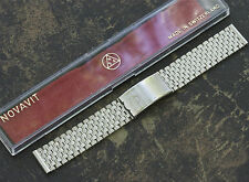Long Version NSA vintage watch band satin steel 18mm 19mm or 20mm 1960s/70s NOS