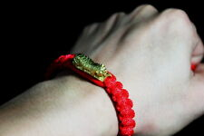 THAI AMULET LP PERN TIGER TWINS TRAKUD RED BRACELET  MUAY THAI MMA PROTECT LUCKY