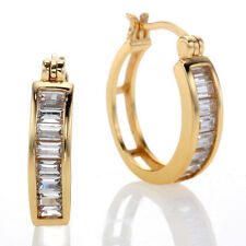 Cubic Zirconia Mini Hoop Earrings @STUNNINGLY SOPHISTICATED@ *MSRP~$299.00*