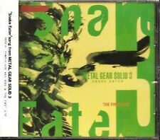 METAL GEAR SOLID 3 Snake Eater SOUNDTRACK CD The First Bite Neuware