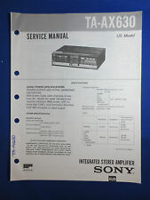 SONY TA-AX630 INTEGRATED AMPLIFIER SERVICE  MANUAL FACTORY ORIGINAL GOOD COND