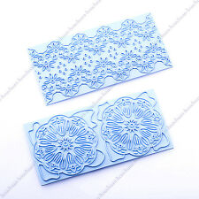 2PCS Lace Flower Embosser Cake Fondant Decorating Sugar craft Cookie Cutter Mold