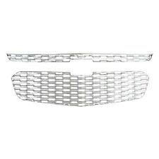 """""""Snap-On"""" Chrome Grille Overlay FITS 2014 2015 Chevy Malibu (2 Pieces Set)"""