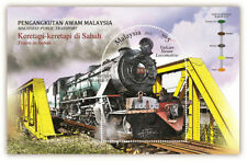 Malaysia 2015 Trains in Sabah stamp SS MNH