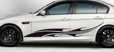 Flames tribal Side Body Stripe Car Truck Vinyl Stickers Decals 2m