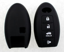 Black Remote Key Fob Case Shell Silicone Cover Fit For Infiniti 4 Button