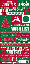 Reminisce CHRISTMASTIME QUOTES GLITTER Stickers scrapbooking 99 CENT SALE!