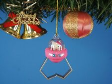 CHRISTBAUMSCHMUCK Hello Kitty UFO Gift Pink Ornament Home Tree Deko *K1147 C
