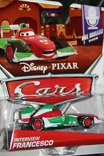 "DISNEY PIXAR CARS 2 ""INTERVIEW FRANCESCO"" NEW IN PACKAGE, SHIP WORLDWIDE"