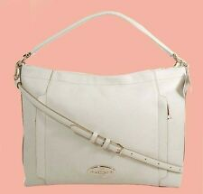 COACH 34312 Scout Chalk Pebble Leather Hobo Shoulder Bag Msrp $325