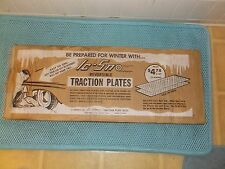 NOS Vintage Ic-Sno Reversible Traction Plates Great Box Graphics  Auto Display