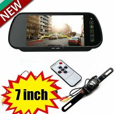 "7""LCD TFT Color Screen Car Reverse Rear View Backup Camera DVD Mirror Monitor FS"