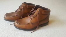 NEW MENS LEATHER TIMBERLAND TAN BROWN BOOTS SIZE 8.5