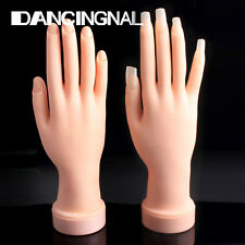 Hand Manicure practice Flectional Display Soft Flexible Silicone Prosthetic Hand
