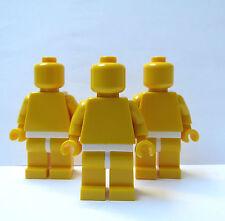 Lego 3 Plain Yellow Minifigure Minifigures  Yellow  Head Body Legs White Hips