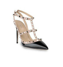 Ladies Pumps Stilettos Strappy Punk Stud Rivets High Heels Evening Party Shoes