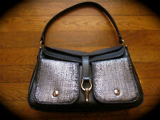 $395 Kate Spade Sutton Small Perrin Leather Bag Purse BLACK SILVER GRAMERCY