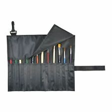 Paint Brush or Tool Holder Case Organizer Black Nylon Short Brushes Roll Up