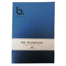 "A5 ""B Inspired"" Writing Notebook -  Silver Stripe Design - 60 Pages - Ruled"