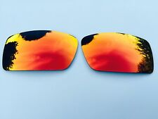 NEW POLARIZED FIRE RED MIRRORED REPLACEMENT OAKLEY FUEL CELL LENSES