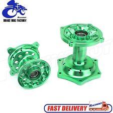 Green Billet Wheel Hub Set For Kawasaki KX125 KX250 KX250F KX450F 2006-2014
