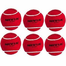 Nivia Red Heavy Cricket Tennis Balls (Pack of 6)