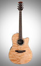 NEW Ovation CS24P-4Q Celebrity Standard Plus Guitar Natural Quilt Maple +Gifts