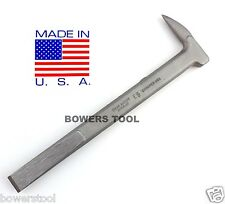 "Enderes Fencing Tool Staple Puller Wedge 5/8"" Cold Chisel Pry Bar MADE IN USA"