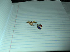 VINTAGE WEST POINT NY RED-WHITE & BLUE ENAMEL PIN WITH ATTACHED EAGLE FREE SHIP