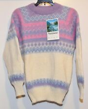 Vintage NEW Norcewool NESJAR 100% Wool Sweater Norway winter sz 38 women Small ?