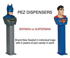 10 X Oficial Batman Vs Superman Dispensadores Pez dulce con dulces, muy rara!