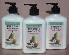 (3) Bath and Body Works [ FRESH PICKED PEARS ] Body Lotion New 12 oz
