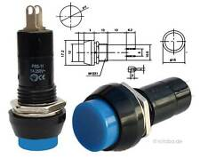 Druckschalter,Taster, runder Schalter ON-OFF, Drucktaster, blau #11C