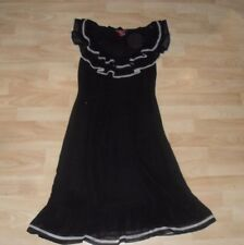 MONSOON Ladies sz 8 Small Black & White  Silk  Party Dress Summer  WEDDING RACES