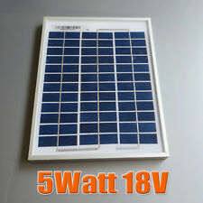 5W 18V Polycrystalline silicon Solar Panel moudle used for 12V battery