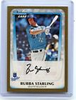 "2011 BOWMAN #BDPP82 BUBBA STARLING ""GOLD BORDER"" ROOKIE CARD RC, ROYALS, 021514"