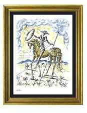 "Salvador Dali Signed & Hand-Numbered Limited Edition ""Don Quixote"" Litho Print"