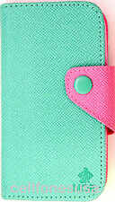 Teal Pink MOZ PU Leather Wallet Card Case Purse Samsung Galaxy S3 lll i9300