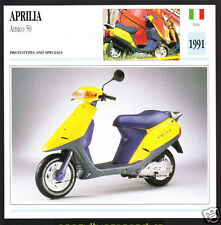 1991 Aprilia Amico 50cc Scooter Moped Prototype Motorcycle Photo Spec Sheet Card
