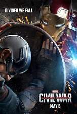 POSTER CAPTAIN AMERICA CIVIL WAR CAPITAN IRON MAN SPIDERMAN CINEMA LOCANDINA #6