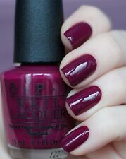 OPI ~IN THE CABLE CAR POOL LANE~ Burgundy Purple Nail Polish Lacquer .5oz F62
