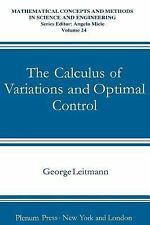 The Calculus of Variations and Optimal Control (Mathematical Concepts and Method