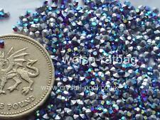 48 x Preciosa Optima 6ss / 13pp Siam Ruby Titania (AB) silver-foiled chatons