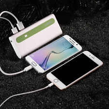 Portable 10000mAh Dual USB Battery Power Bank Charger For Cell Phone iPhone 6 6s