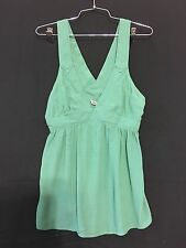 NEW JUICY COUTURE Halter Tank Top Size 2 Eucalyptus Turquoise Original  $158.00