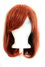"15"" Shoulder Length Straight Cut with Long Bangs Maple Brown Cosplay Wig NEW"