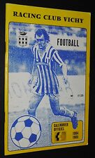 RARE FOOTBALL CALENDRIER OFFICIEL RACING-CLUB VICHY 1984-1985 AUVERGNE HONNEUR